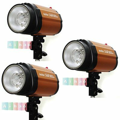 3Pcs Genuine GODOX Smart 300SDI 300W Studio Strobe Flash Light Speedlite Head