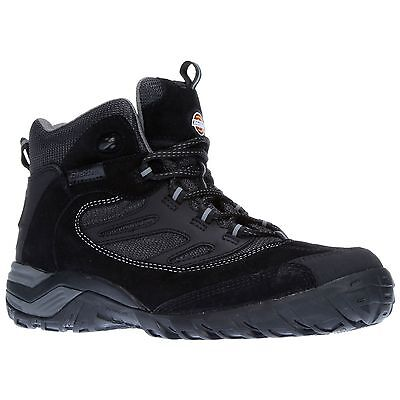 Dickies Dalton Suede & Mesh Safety Boots / Shoes In Black - UK 12 / Eur 47