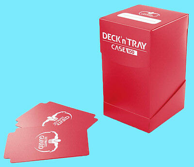 ULTIMATE GUARD DECK n TRAY RED 100+ CASE Dividers MTG Standard Size Card Box