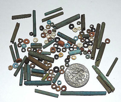 More than a Hundred 2500 Year old Ancient Egyptian Faience Mummy Beads (#D8954)