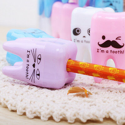 Super Cute Tooth Pattern Pencil Sharpener School Kid's Office Supplies JR