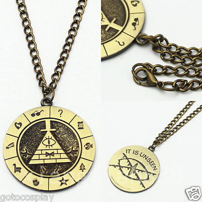Anime Gravity Falls Bill Cipher Boss Necklace Pendant Cosplay Collection