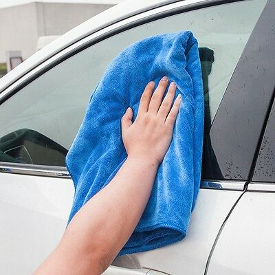 1pc Blue Absorbent Microfiber Towel Car Home Kitchen Washing Clean Cloth 30*70cm