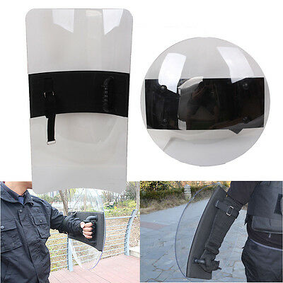 3mm Transparent Protective Riot Hand Shield Police Tactical Security Protection