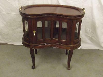 Antique Style Repro Glazed Kidney Shaped Disply Unit  - Bijouterie Table  Photos