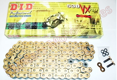 Yamaha XJR1300, 2007 to 2015 DID Gold X-Ring Drive Chain 50VXGB110