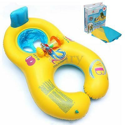 Inflatable Mother Baby Kids Float Raft Seat Summer Swimming Beach Pool Toy Ring