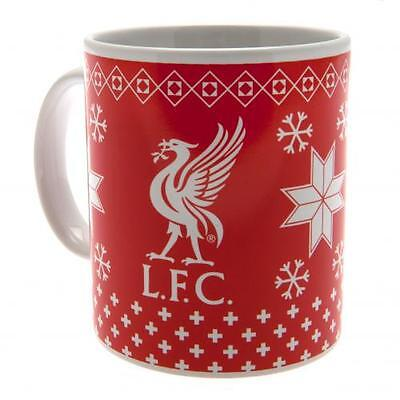 Official Licensed Football Product Liverpool Christmas Mug Cup Coffee Xmas Gift