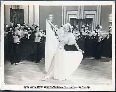"Vintage ""G Men"" James Cagney Lot of 2 Photos Lobby Card Print"