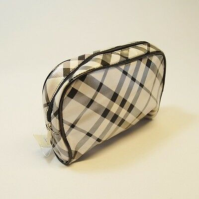 Cosmetic Make Up Travel Wash Bag Plaid Tartan Lines Stripes Accessory