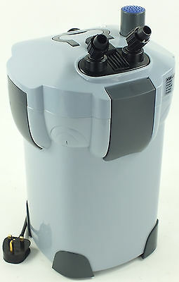 Aquarium Fish Tank External Filter Pump 2000L/H Media Included HW-404
