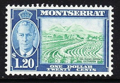 Montserrat 1951 $1.20 Yellow-Green & Blue Sg 133 Mint.