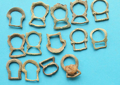 Medieval Viking period buckles from wallets and bags