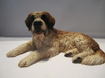 Saint Bernard pup dog figure Castagna hand made and hand painted in Italy new