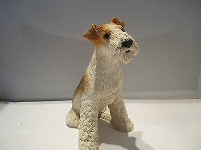 Airedale Terrier  dog figure sitting pose hand made in Italy by Castagna new