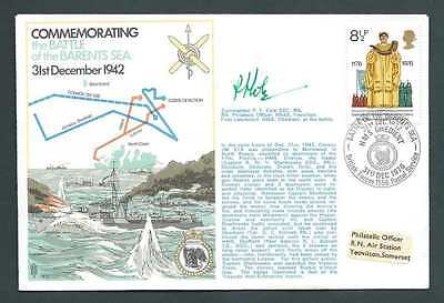RNSC2 3. Commemorating the Battle of the Barents Sea. Signed Cover