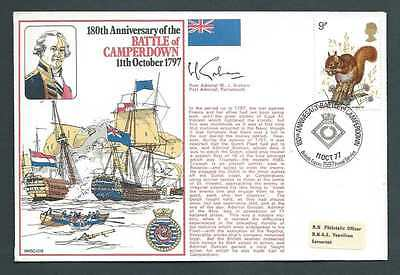 RNSC2 8. 180th Anniversary of the Battle of Camperdown. Signed Cover