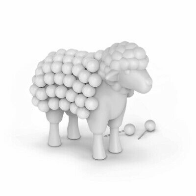Stuck on Ewe Desktop Sheep 75 Push Pins & Holder