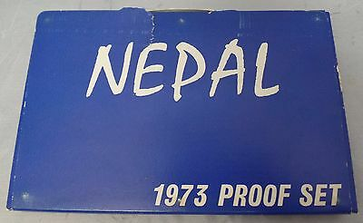 1973 Nepal 7 Coin Proof Set | With Outer Sleeve