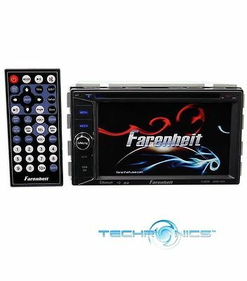 "Farenheit Ti-623B Double Din Multimedia Car Stereo 6.2"" Lcd Touch Screen Player"
