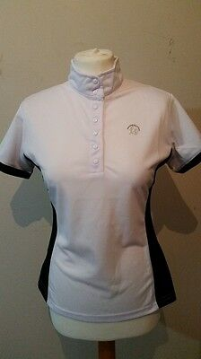 Clearance Hkm Lauria Garrelli White & Black Ladies Show/competition Shirt