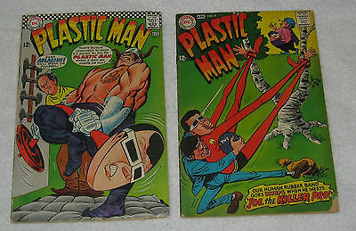 DC Comics PLASTIC MAN Two Issues, Numbers 5, 9 1967 1968