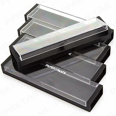 PACK OF 5 Clear Lid Pen Display Box Stationery Fountain/Biro Presentation Case