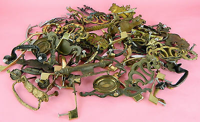 80 Piece Drawer Door Cabinet Hardware Lot Vtg Pulls Bars Handle Antique Retro