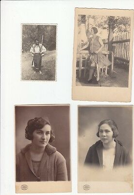 Lot Of 4 Vintage Postcards 1927