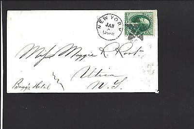 New York, New York Cover. 3Ct Banknote. Fancy Cancel Star .