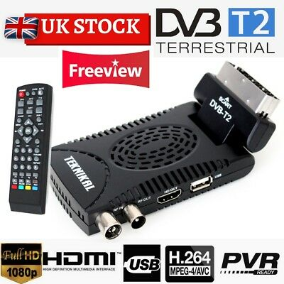 TEKNIKAL HD Scart Freeview Receiver & Recorder Set Top Box HD Channels to watch