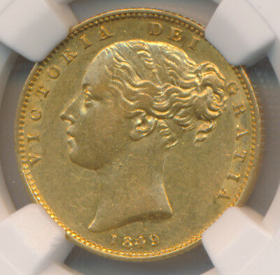 Great Britain GOLD Sovereign 1849 - NGC AU 55