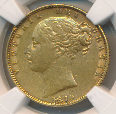 Great Britain GOLD Sovereign 1870 Victoria - NGC XF 40
