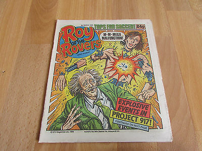 ROY of the ROVERS Classic Weekly Football Comic 08/03/86 - 8th March 1986