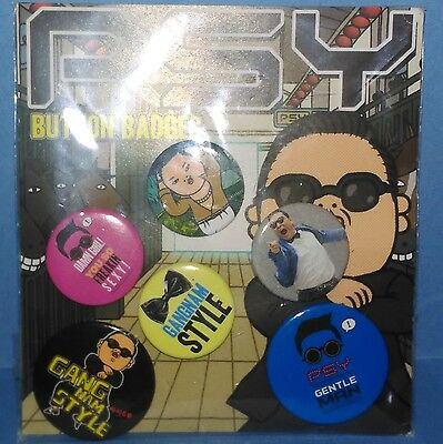 Psy - Gangnam Style, Gentleman - Button Badges - Badge Pack Various Sizes x6