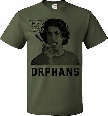 THE ORPHANS T-SHIRT the Warriors street gang cult movie game film Walter Hill