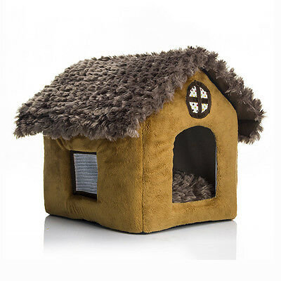 Newly Pet House Vogue Colorful Dog Cat Nest Washable Kennel W/Breathable Window