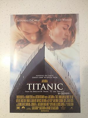 "Promotional 7"" X 11"" Australian Release Movie Flyer - Titanic (1997)"
