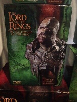 Lord of the Rings Sideshow Weta Uruk Hai Scout 1/4 Scale Bust