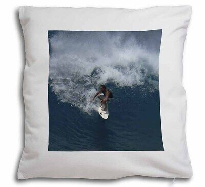 Surf Board Surfing - Water Sports Soft Velvet Feel Cushion Cover Wit, SPO-S3-CPW