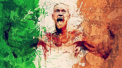 Pride Of Ireland Conor McGregor Glossy Poster Art Hologram MMA 8x11 A4 Connor
