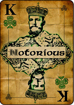 Irish King Conor McGregor Glossy Poster Art Hologram MMA 8x11 King Card Connor