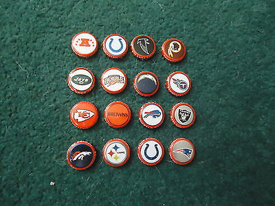 NFL Year 2000 Budweiser Beer Bottle Caps Set of 16 Sold In Canada Only!!