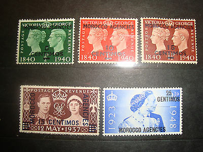 Postage stamps  British Office in Morocco early Lot 1
