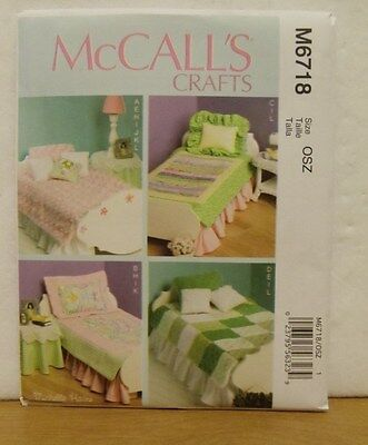 """McCall's M6718 - 18"""" Doll Bedding Pattern NEW"""