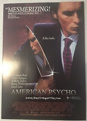 "Promotional 7"" X 11"" Australian Release Movie Flyer - American Psycho (2000)"