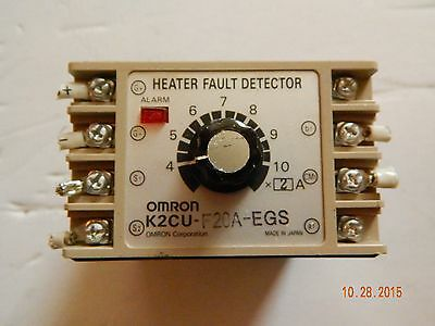 Omron K2CU-F20A-EGS Heater Fault Detector Unit with alarm