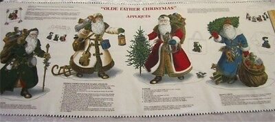 4 Gorgeous Victorian Olde Father Christmas Appliques