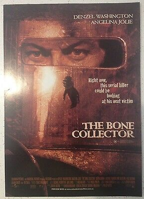 """Promotional 7"""" X 11"""" Australian Release Movie Flyer - The Bone Collector (1999)"""