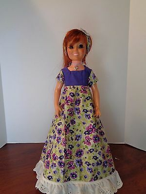 Beautiful Flower Dress Outfit For Ideal Crissy Doll